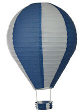 Chinese Lantern, Printed Wire Framed Paper, Oval 40 x 60 cm, Blue & White