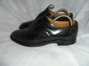 CHURCH'S MEN'S BLACK LEATHER LACE UP TOE CAP SHOE SIZE UK 8.5 EU 42.5 VGC