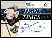 2019-20 UD SP Authentic Sign of the Times Auto #SOTT-KT Keith Tkachuk