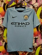 Manchester City Football Shirt Soccer Jersey Training Top Nike 2017 Mens Size S