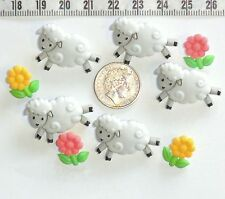 Novelty Buttons Embellishments Sheep Lambs Spring Quilting Sewing Patchwork #269