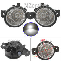 2x LED Front Fog Light Lamps For Nissan Qashqai Micra X-Trail Renault Master New