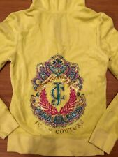 Juicy Couture Limited Edition Rhinestone Yellow Hoodie Size S