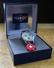 SWISS AIR FORCE CHRONOGRAPH, NOS Watch In Original Box, Made in Switzerland