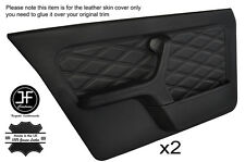 Black diamond stitch intégrale 2X porte avant carte en cuir couvre fits bmw E30 saloon