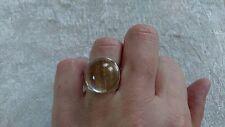 Ring Rutilquarz, 925 Silber  Durchmesser: 17 mm