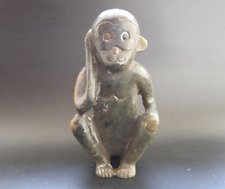 Old Chinese Hongshan culture Jade Hand-carved monkey statue #326