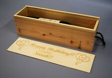 Personalised Birthday - Wooden Wine / Spirit / Champagne Box