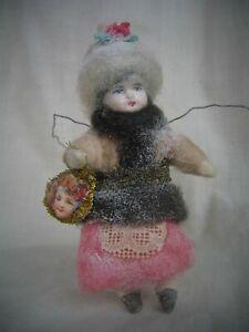 Christbaumschmuck  Wattefigur - Wintermädchen