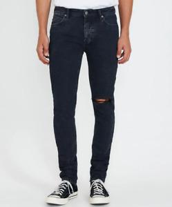 Mens Ksubi Van Winkle Dusk Trashed Blue Ripped Skinny Jeans RRP $379.00 (32)