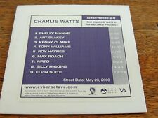 The Charlie Watts Jim Keltner Project CD Advance Promo Rare Rolling Stones Exc