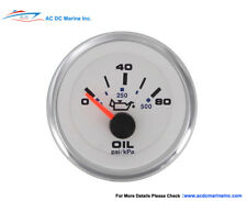 Sierra Engine Oil Pressure Boat Gauge 0-80/0-500 psi USA Made