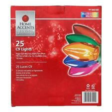 New Christmas Home Accents Holiday 25 C9 Multi-Color Christmas Lights 24 ft.