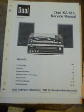 DUAL  KA 12L Hi-Fi System  Service Manual