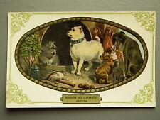 R&L Postcard: Diogenes and Alexander, Landseer, Dogs, Max Ettlinger