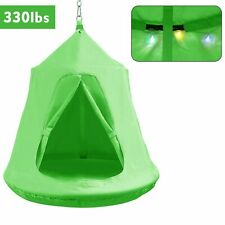 Hammock Hanging Tree Tent Porch Swing Seat Patio Camping Indoor Adult Kids Green