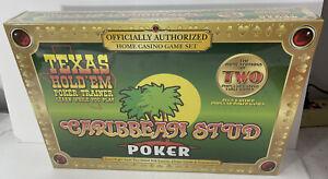 Texas Hold'Em & Caribbean Stud Poker Casino Game Set Sealed