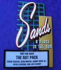 THE SANDS 3D art sign Vintage  man cave New Hotel Casino 3-D Las Vegas Sinatra