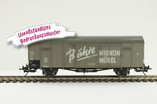"lenz o gauge 42212-06 COVERED GOODS WAGON GL22 Dresden, "" bähre Mignon """