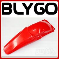 RED Plastics Rear Tail Mud Guard Fender CRF250 Style PIT PRO Trail Dirt Bike