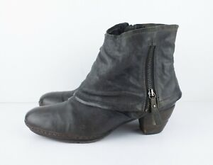 A.S.98 AS98 Airstep Women's Ankle Boots Grey Size EU 41 US 9.5-10 Leather Zip