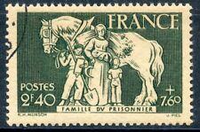 STAMP / TIMBRE DE FRANCE OBLITERE N ° 586 FAMILLE DU PRISONNIER