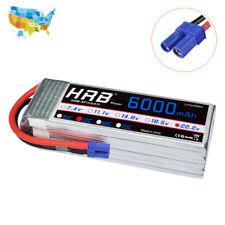 HRB 22.2V 6000mAh 6S 50C Lipo Battery EC5 Plug For RC Airplane Trex 700 Yak 54