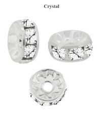 Preciosa Czech Crystal Silver Plt. Rondelle Round Spacer Beads *All Colors&Sizes