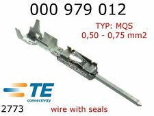 Terminals Male MQS F063 Tin Plated Terminal 0.50 - 0.75 mm2 TYCO 10pcs 000979012