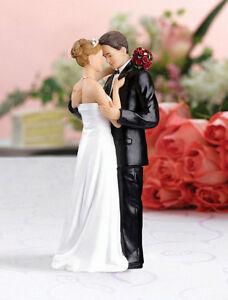 Romantic Resin Wedding Cake Topper Figure Bride & Groom Couple Bridal Decor New