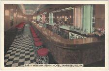 Bar at the William Penn Hotel Harrisburg Pennsylvania Vintage Postcard