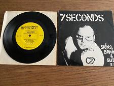 7 Seconds Skins, Brains, & Guts E.P. Original Cover Black Vinyl Rare