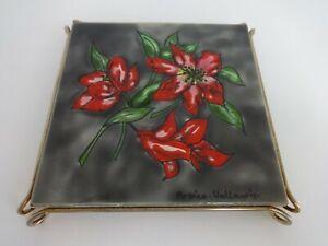 Vintage Trivet Handmade Painted Tile Ardico Vallauris Interiors Styles Stands