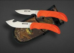 Outdoor Edge Cutlery Wild-Pair Hunters Knife Combo, Gut-hook Skinner and Caping