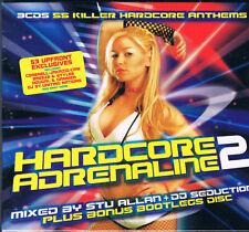 Hardcore Adrenalina 2 Juego caja mercancía 3CDs 55 Songs Stu Allan+JJ Seduction