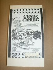 CHAIR CANING THE 7-STEP METHOD 1991 INTERLACE PRODUCTIONS VHS TAPE