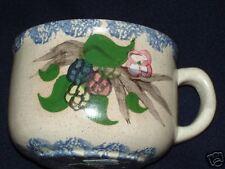 Country Crafts  Rasberry Mug Blue Sponge Waldenburg ARKANSAS