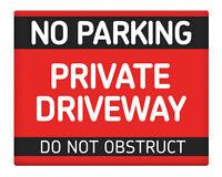 """No hay aparcamiento esta es un área de giro 8x10/"""" Metal Sign propiedad de negocios #245"""