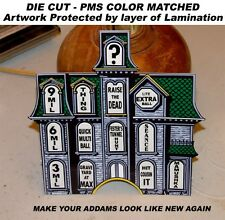 ADDAMS Family Pinball Machine MANSION Insert Decal OVERLAY