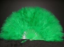 """MARABOU FEATHER FAN - KELLY GREEN Feathers 12"""" x 20"""""""