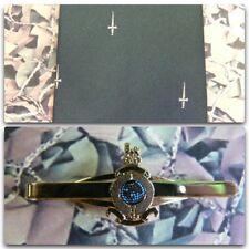 30 Commando Royal Marines (Crest) Tie & Tie Bar Set With RM Bar (cream dag)