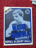 BOXING PROGRAMME - CHARLIE MAGRI V CIPRIANO ARREOLA 1982