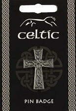 Celtic Cross Pewter Lapel Pin Badge