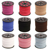 Lots 3/100M Leather Beading Thread Flat Suede Cord Jewelry Making Craft 3.0MM