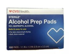 100 Count Alcohol Prep Pads Wipes Sterile 70% Isopropyl Individually Wrapped