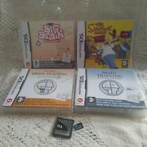 Nintendo DS Games Bundle Brain Training - Simpsons - R4 - good condition