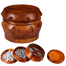 2.5' 63 mm Tobacco Herb Grinder Large 4 Piece Smoke Spice Crusher Sharp Magnetic