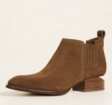NEW ALEXANDER WANG Suede Oxford Booties Shoe-KORI, Dark Truffle