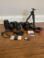 Canon EOS Rebel T3i Digital SLR Camera Bundle with 4 Lenses and Accessories