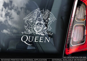 QUEEN, Car Sticker, Freddie Mercury Rock Band Music Window Bumper Decal Sign V01